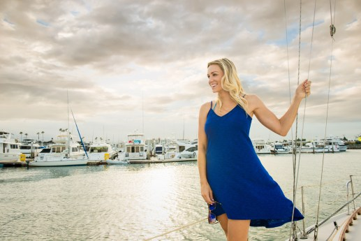 blue dress sailing